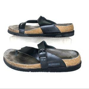Mephisto Helen Black Sandals size 40
